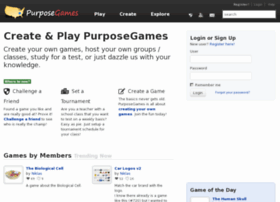 Create Web Based Games with PurposeGames