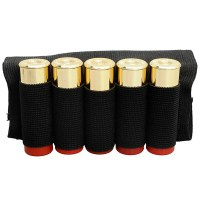 5 Shot Shotgun Ammo Carrier Buttstock Belt Bullet Holder ...