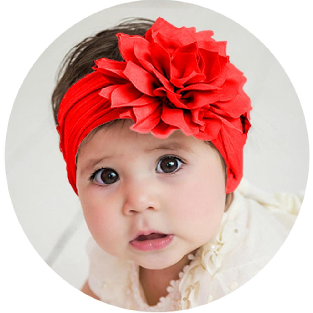 Handmade Newborn Baby Girls 1 6 12pcs Bow Headband Soft Elastic Strap Head Band