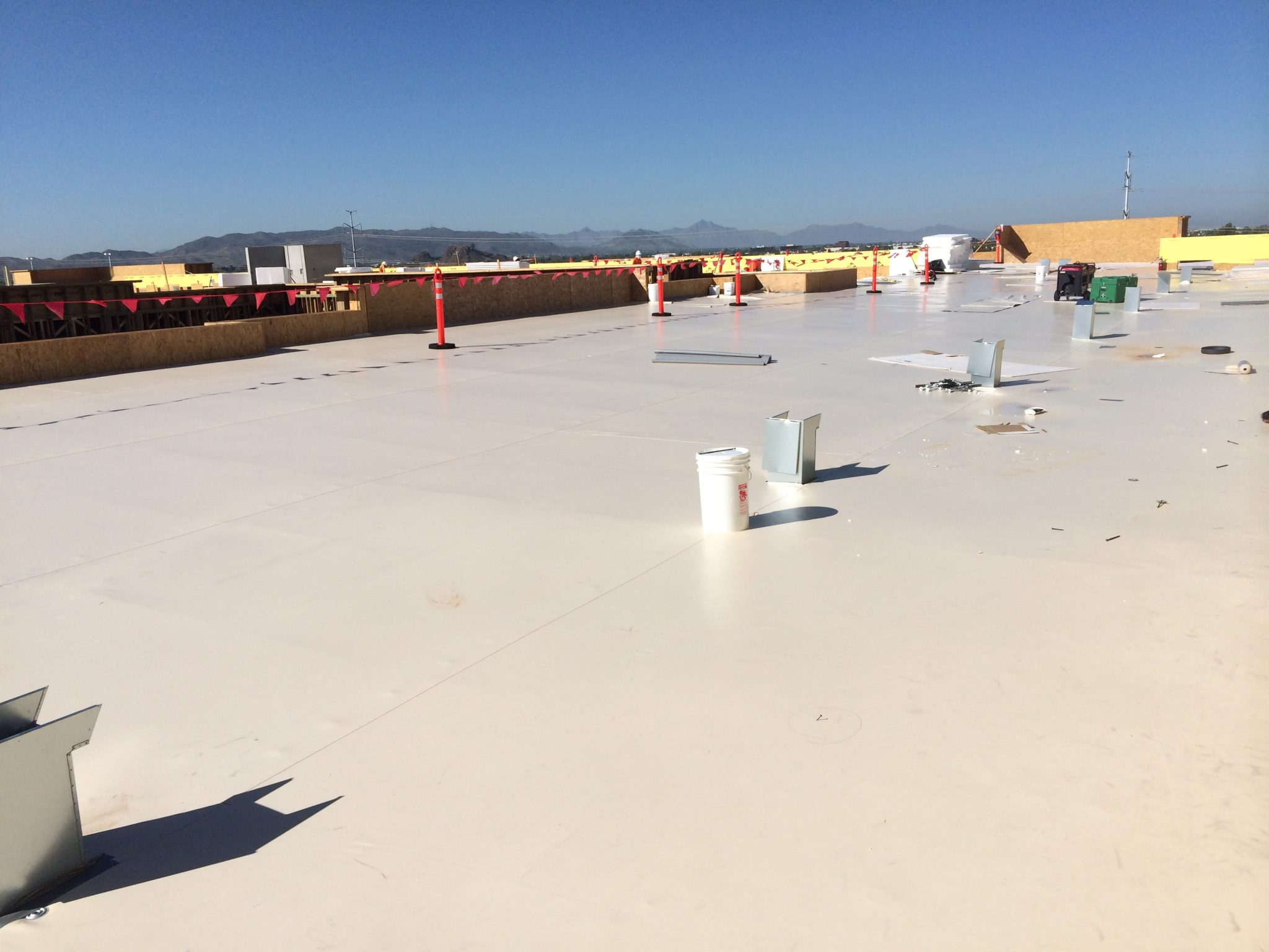 Insulfoam effective drainage for flat roofs