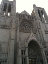 Grace Cathedral on top of Nob Hill San Francisco