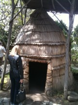 Mission Delores native American hut