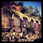 Concrete overflow structure of North Fork Ditch, abandoned when Folsom Lake was built