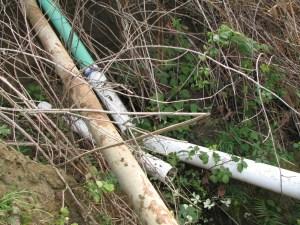 Broken Storm water line on Hillside #2