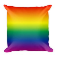 Rainbow Ombre Pillow