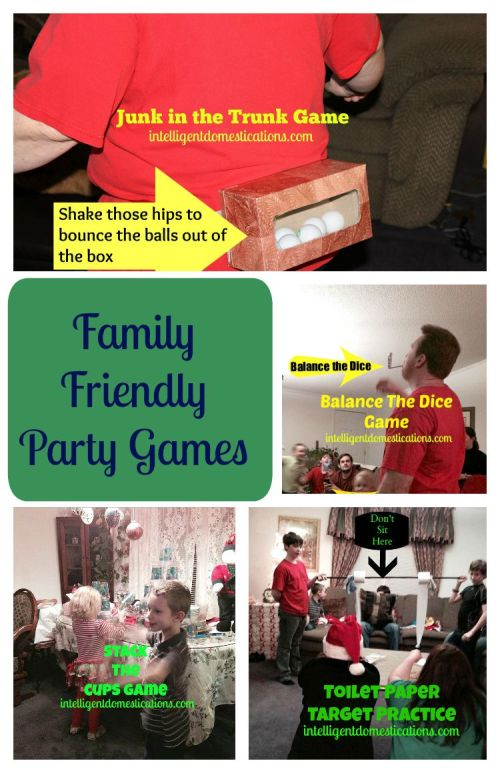 Family Friendly Party Games at www.intelligentdomestications.com