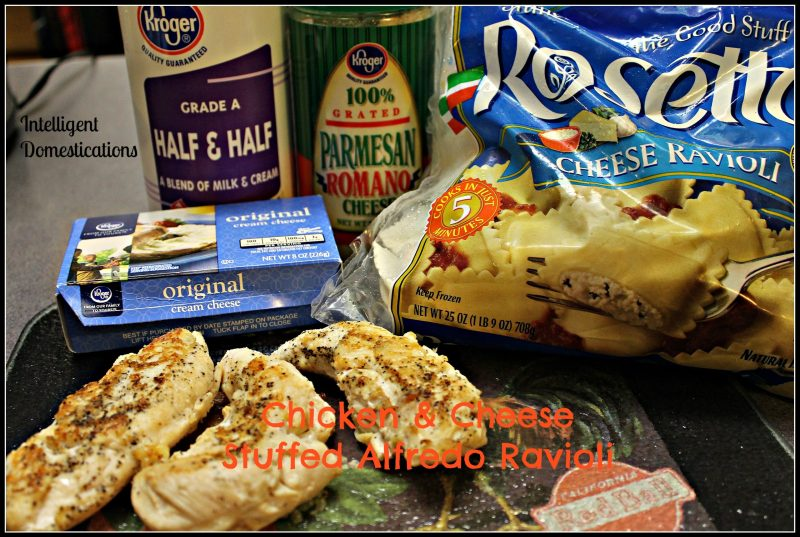 Chicken & Cheese Stuffed Alfredo Ravioli Ingredients