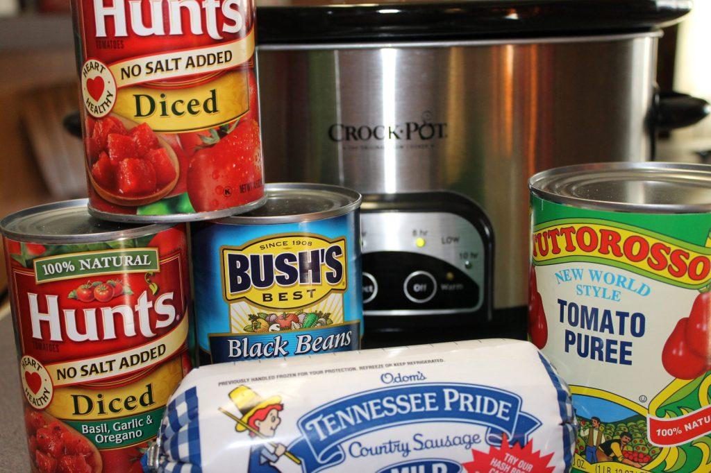 Black Bean Chili Basic Ingredients