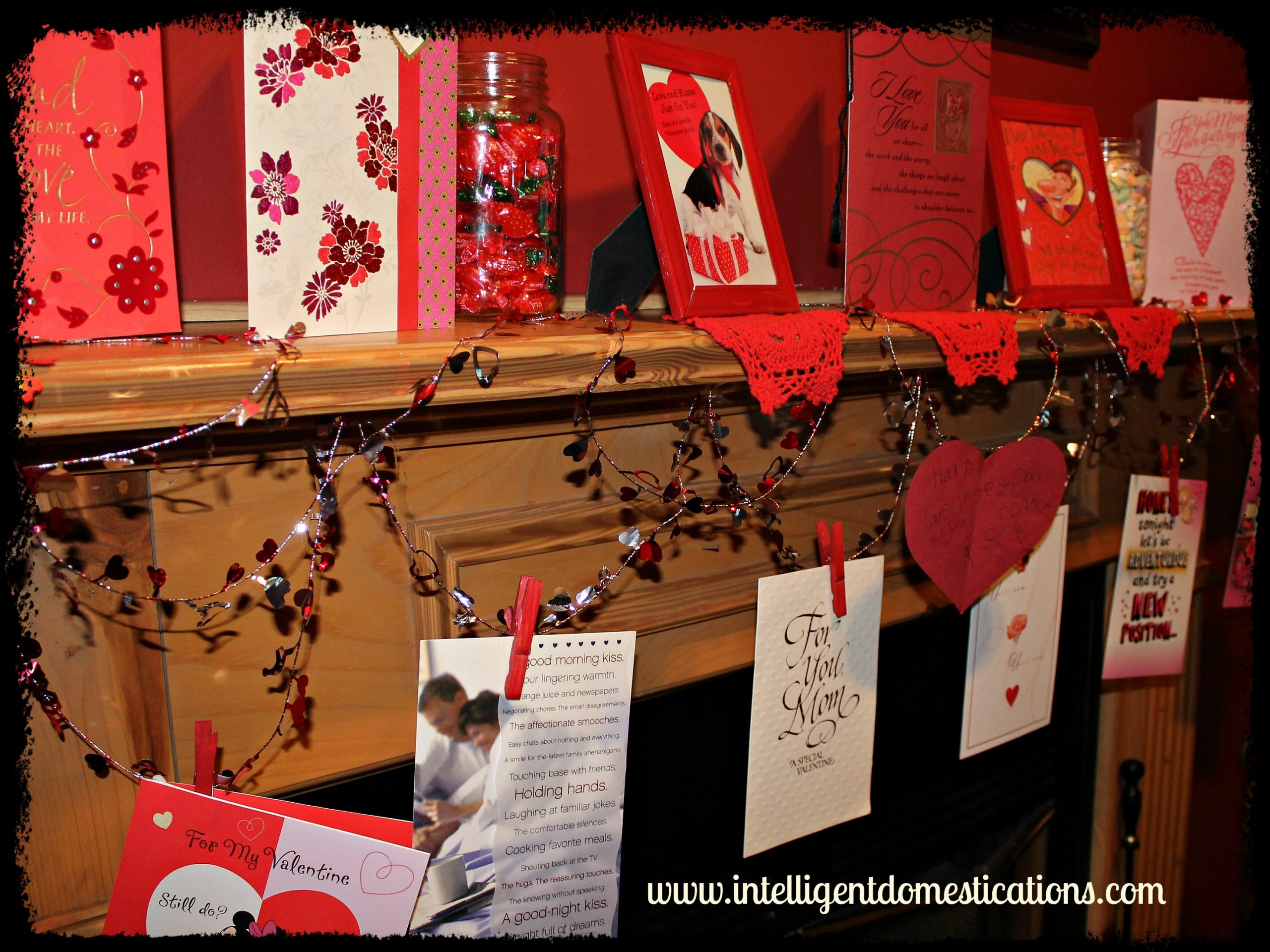 Valentine Mantlescape Clothespins Intelligentdomestications.com