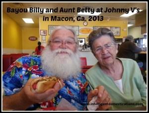 Bayou Billy and Aunt Betty at Johnny V's