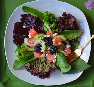 Mixed Greens Summer Salad by Pure Grace Farms