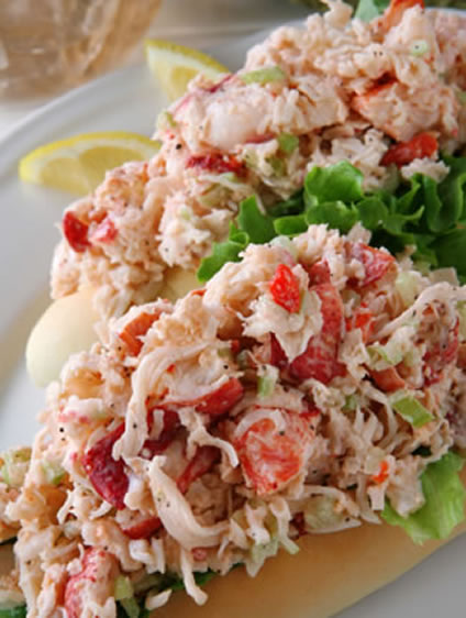 lobster-salad-sandwich-recipe from Simple Salad Recipes.net