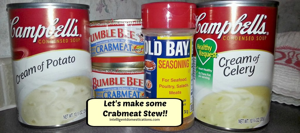 Crabmeat Stew Ingredients.Directions and recipe at intelligentdomestications.com