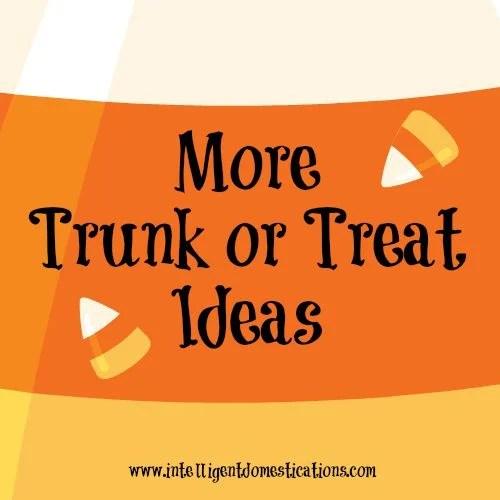 More Trunk or Treat Ideas 500x500 at www.intelligentdomestications.com