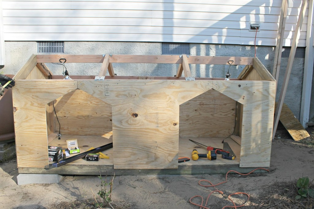 Dog House in the making.5.Find plans and instructions at www.intelligentdomestications.com