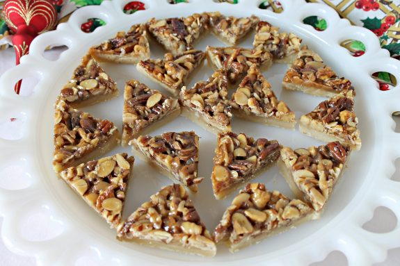 Triple Nut Diamond Bars. Find this recipe and more great ideas for the home at www.intelligentdomestications.com