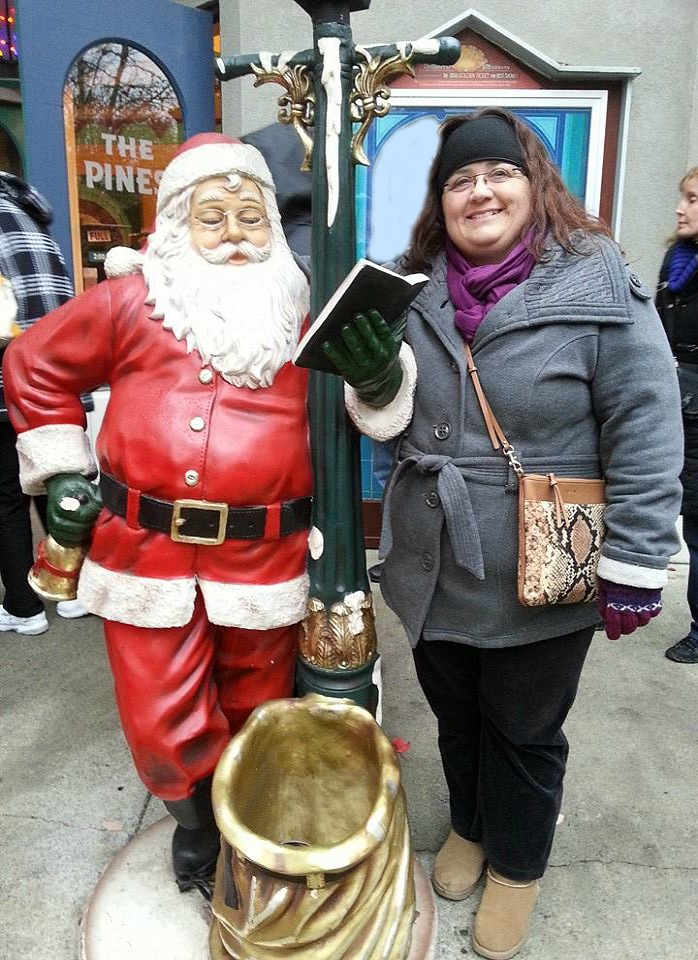Me with Santa in Jukebox Junction at Dollywood 2014