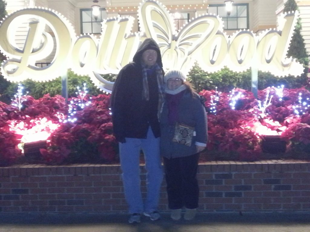 Stacy and I at Dollywood freezing and loving every minute of it.Read about Christmas at Dollywood