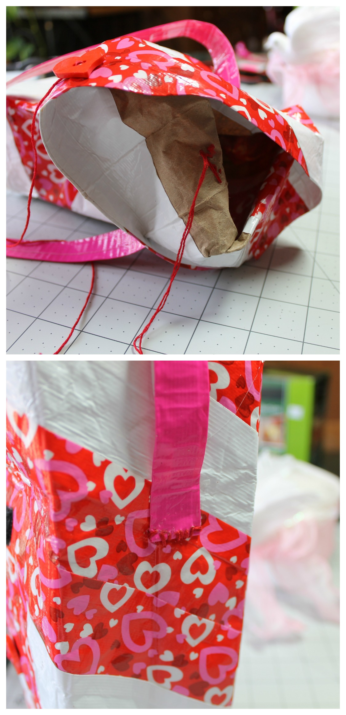 DIY Valentines Duck Tape Lunch Bag Intelligent Domestications