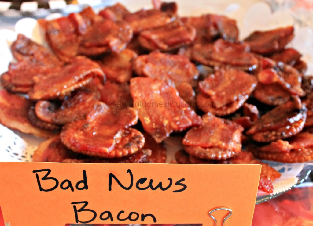 Serve your guests some Bad News Bacon at your WWE Theme Party.intelligentdomestications.com