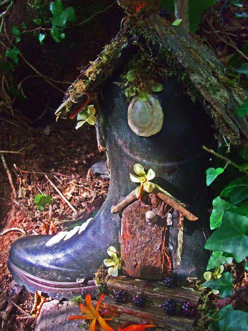 Fairy Garden in an old boot