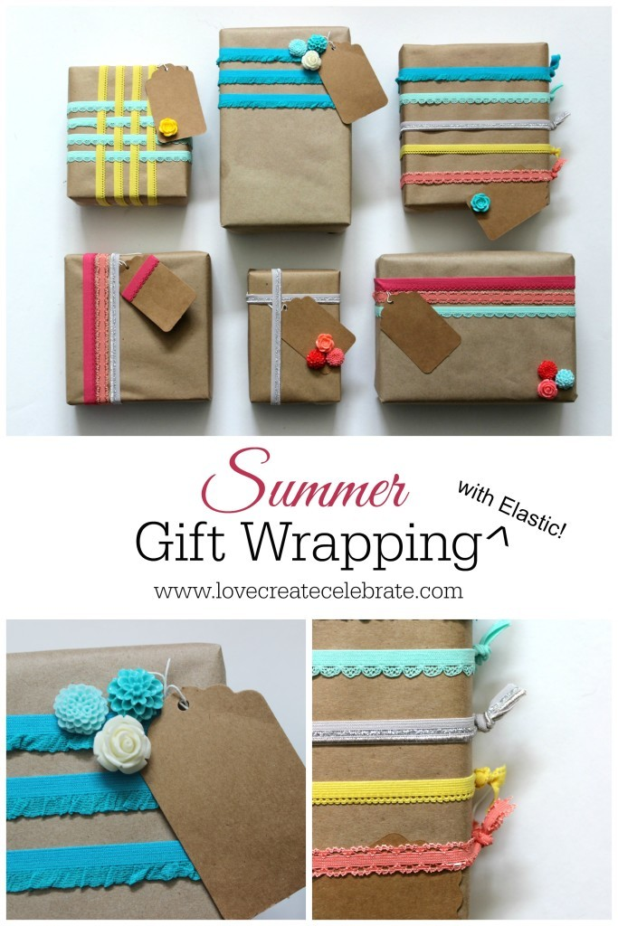 Summer gift Wrap with elastic