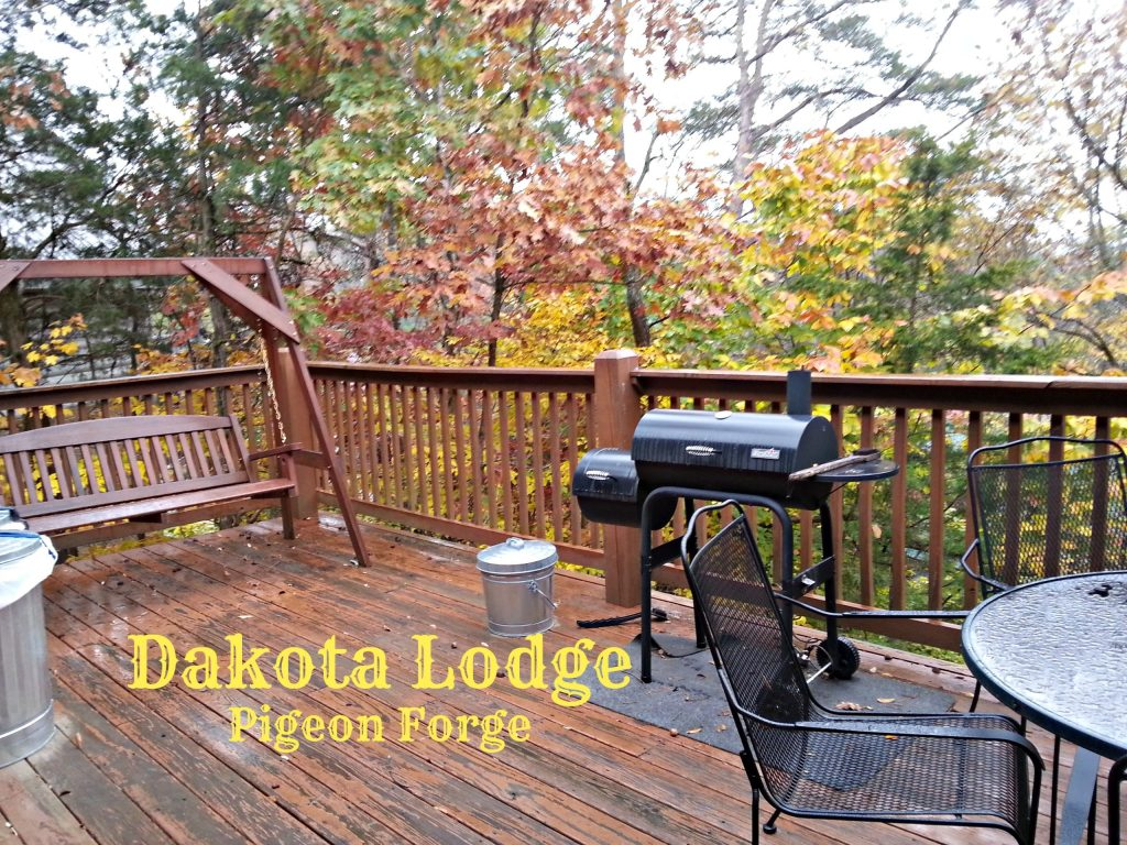 Dakota Lodge Gorgeous deck includes swing, grill, table, hot tub and what an awesome view