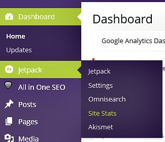 In the dashboard select Site Stats under 'Jetpack'