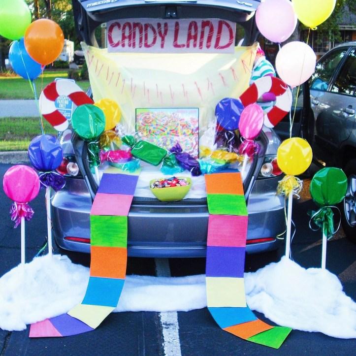 Candyland Trunk or Treat design by Sprinkledevents