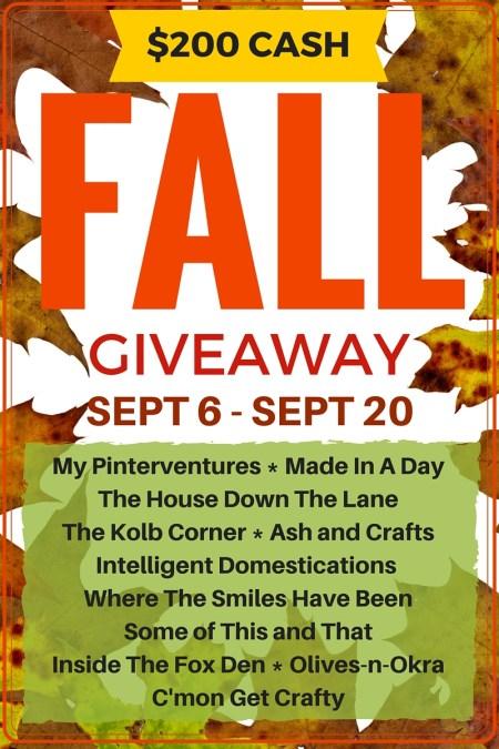 $200 Paypal Cash Fall Giveaway intelligentdomestications.com