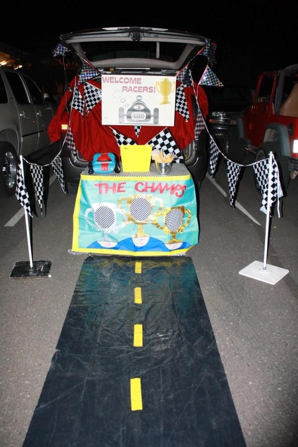 Race Car theme Trunk or Treat idea