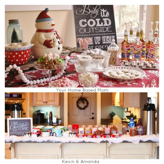 Hot Bar Ideas for 12 Days of Christmas