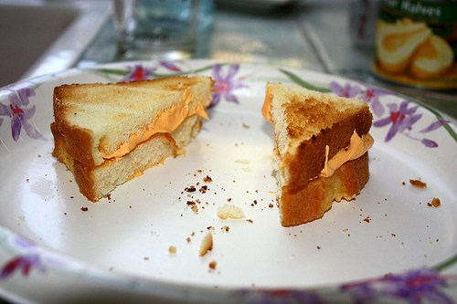 Fake Grilled cheese for April Fools Day from The Spohrs Are Multiplying