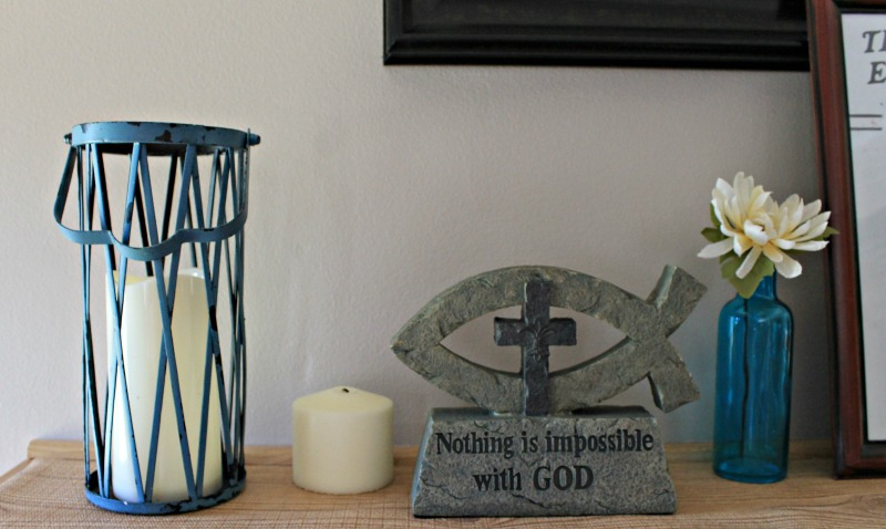 Our 2016 Simple Summer Mantle Decor theme is God and Country