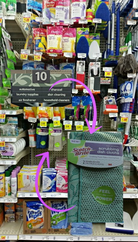 Find Scotch-Brite Scrubbing dish cloths at your local Kroger store on the aisle with cleaning products