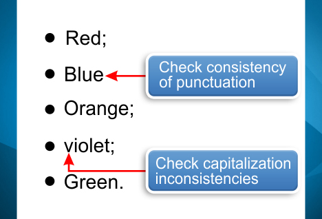 How to Punctuate Bulleted and Numbered Lists Intelligent Editing