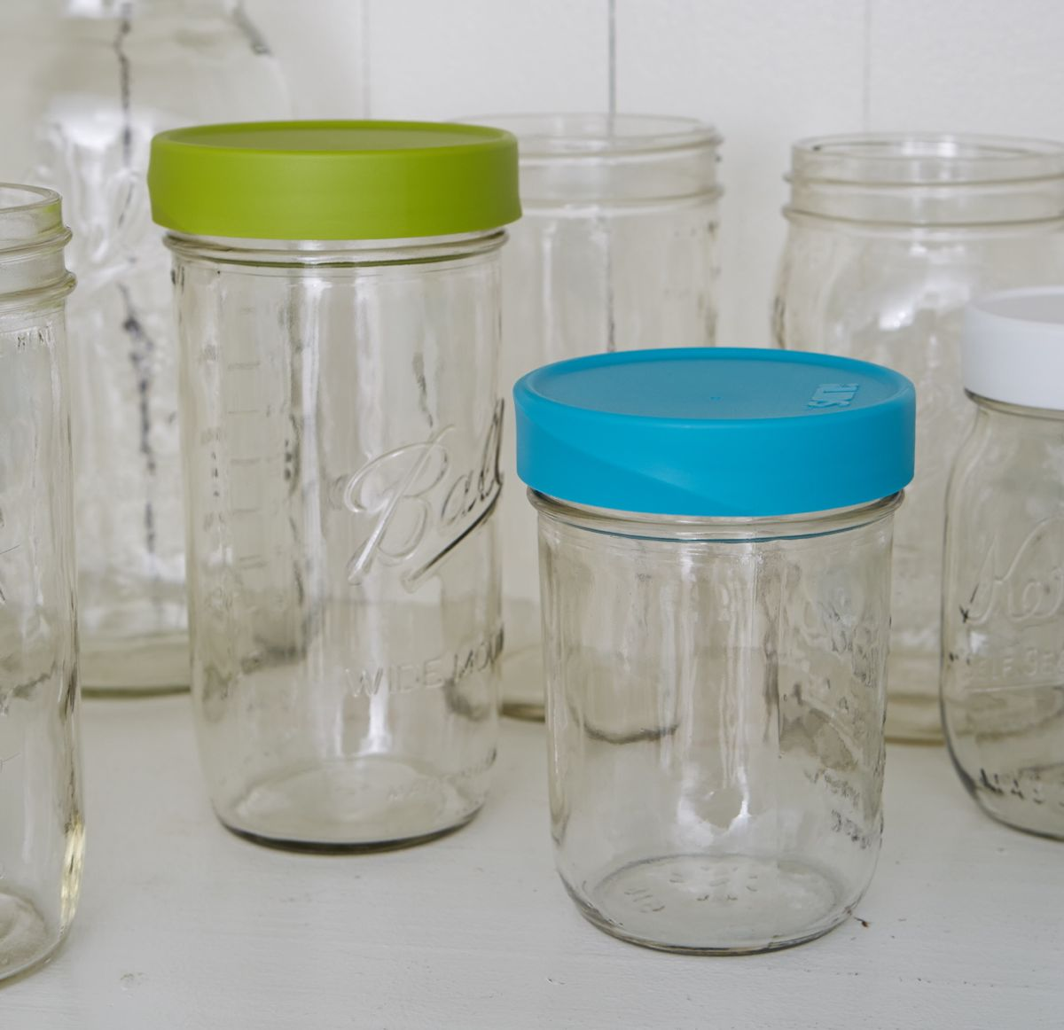 Lid And Jar Mason Jar Lids Storage Wide Mouth Intelligent Lids