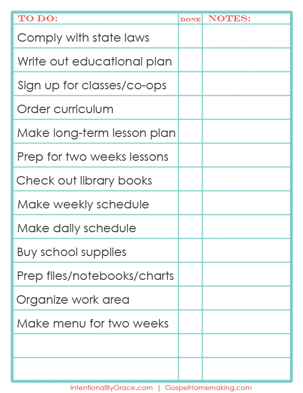 The Ultimate List of Free Homemaking Printables - Intentional By Grace - weekly checklist