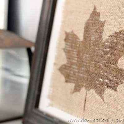 Burlap Crafts For Fall