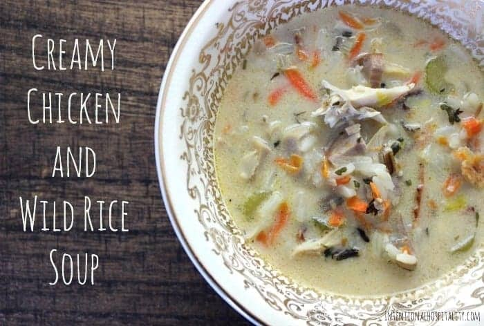 Creamy Chicken and Wild Rice Soup is a delicious soup with bacon, wild ...