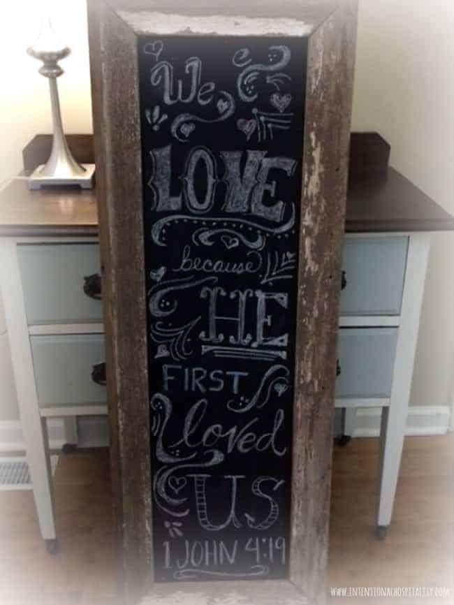 1 John 4:19 | Chalkboard