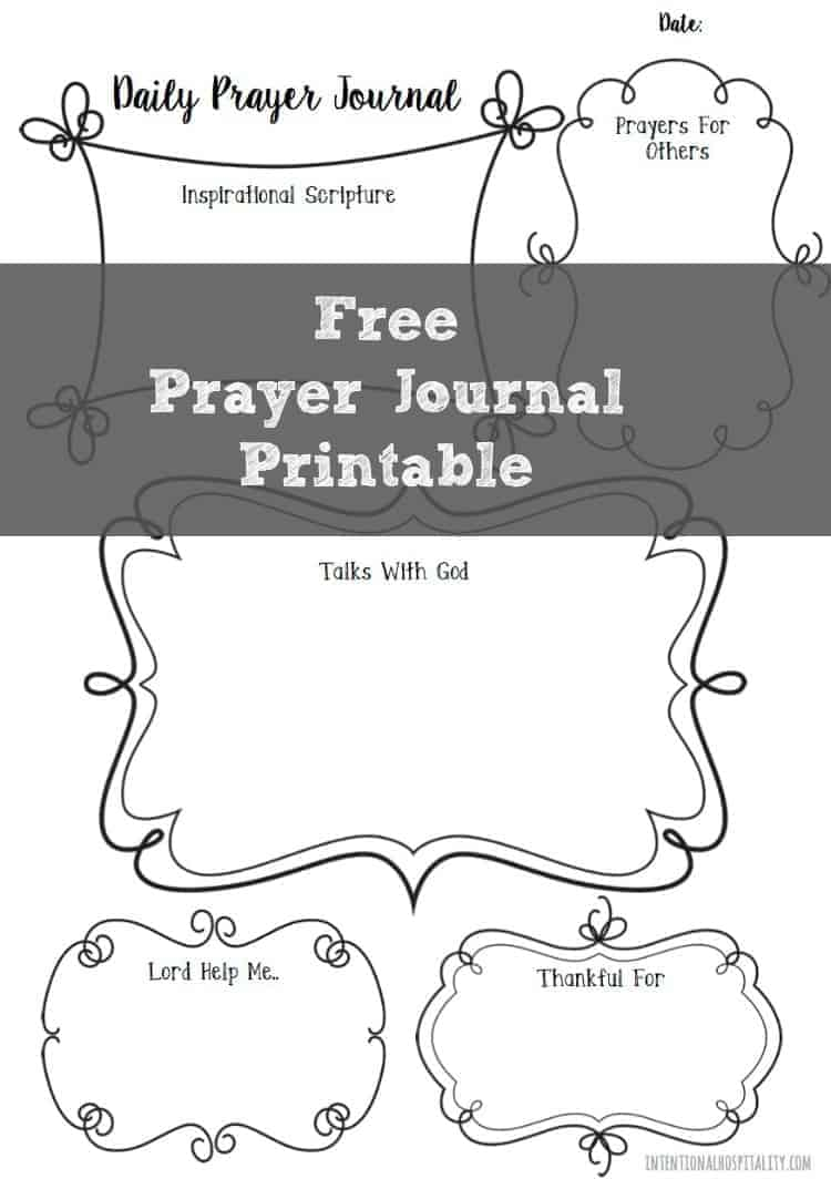 Free Prayer Journal Printable | Intentional Hospitality