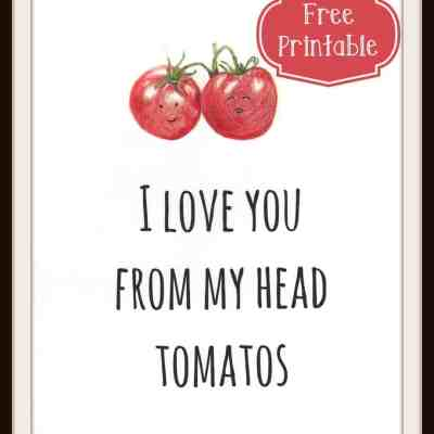Free Printable Tomato Love