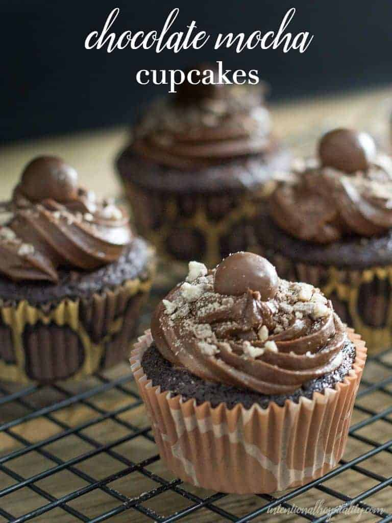 Best Moist Chocolate Mocha Cupcake Recipe | Intentional Hospitality