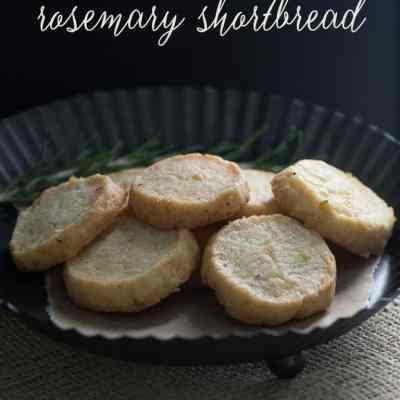 SavoryParmesan Rosemary Shortbread