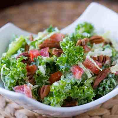 Low Carb Italian Kale  Salad