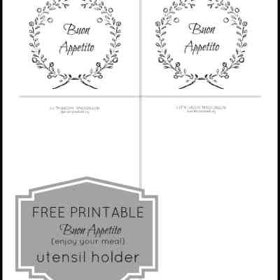 Free Printable Utensil Holder