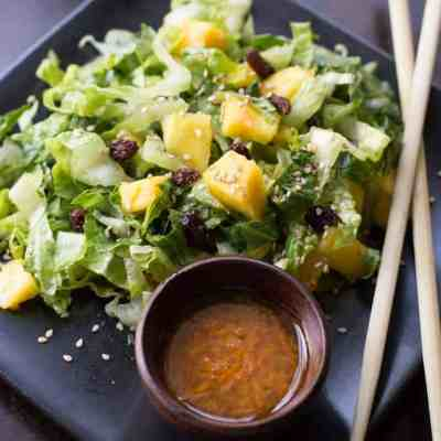 Mango Sesame Salad with Carrot Ginger Dressing