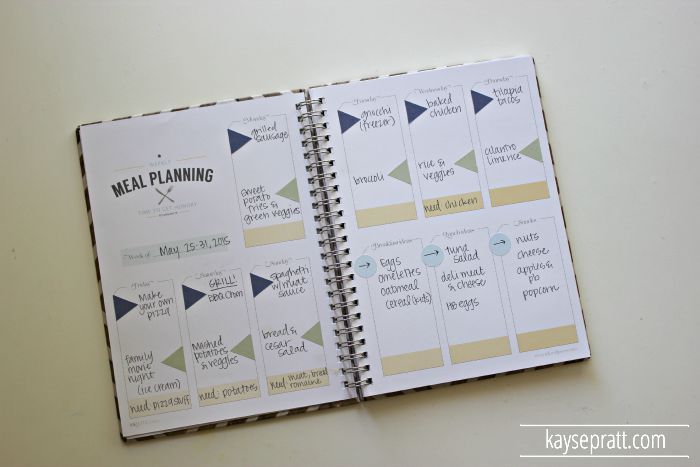 My Favorite Meal Planning Tool ( a Sample Plan!) - Intentional Moms - sample meal planning