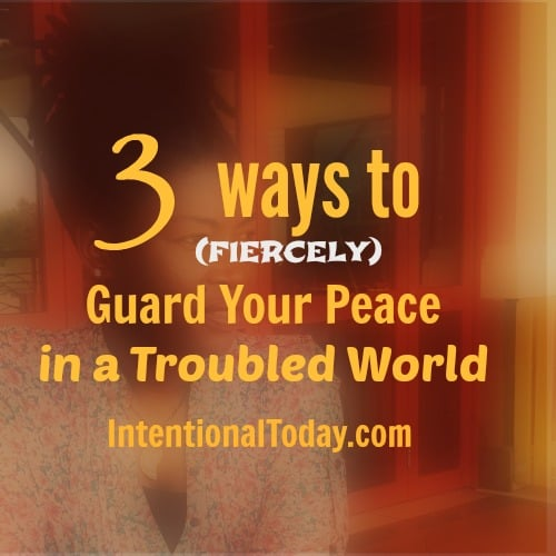 Image - 3 ways to fiercely guard your peace in a troubled world